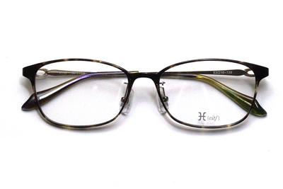 薄型レンズ付メガネセット Hamamoto H ハマモト エイチ H 1154-1 デミ【レディース】【女性用】【日本製】【軽量フレーム】【フルリム】