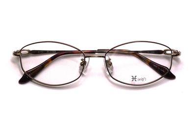 薄型レンズ付メガネセット Hamamoto H ハマモト エイチ H 1153-2 ブラウン【レディース】【女性用】【日本製】【軽量フレーム】【フルリム】