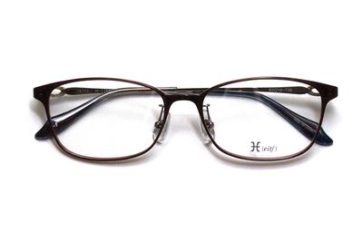 薄型レンズ付メガネセット Hamamoto H ハマモト エイチ H 1154-3 ブラウン【レディース】【女性用】【日本製】【軽量フレーム】【フルリム】