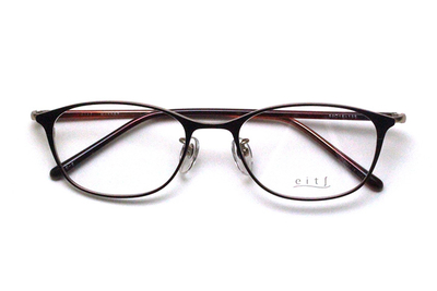 薄型レンズ付メガネセット Hamamoto H ハマモト エイチ H 1157-2 レッド/ゴールド【レディース】【女性用】【日本製】【軽量フレーム】【メタル】