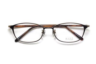 薄型レンズ付メガネセット Hamamoto H ハマモト エイチ H 1158-1 ブラウン/ゴールド【レディース】【女性用】【日本製】【軽量フレーム】【メタル】