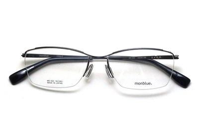 薄型レンズ付メガネセット monblue モンブルー MO 022-5 グレー【ユニセックス】【男女兼用】【日本製】【三工光学】【ハーフリム】