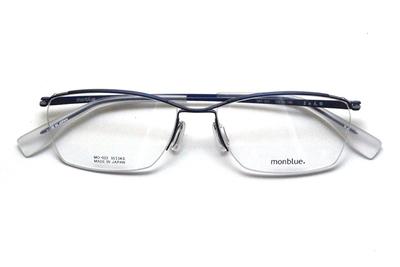 薄型レンズ付メガネセット monblue モンブルー MO 022-6 ブルーマット【ユニセックス】【男女兼用】【日本製】【三工光学】【ハーフリム】