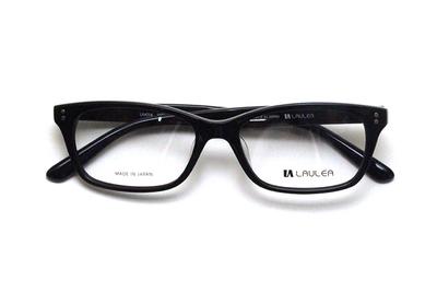 薄型レンズ付メガネセット Laulea ラウレア by アミパリ LA 4014-21 BK ブラック【ユニセックス】【男女兼用】【アセテート】