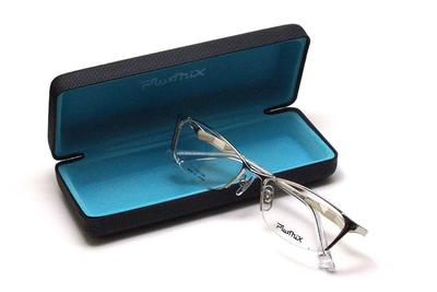 薄型レンズ付メガネセット PLUSMIX プラスミックス 13726-020 シルバー【2020 夏モデル】【メンズモデル】