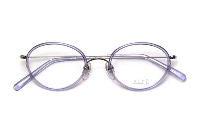 薄型レンズ付メガネセット Hamamoto H ハマモト エイチ H 1162-3 パープル【レディース】【女性用】【日本製】【軽量フレーム】【プラスチック】