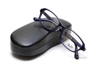 薄型レンズ付メガネセット Rayban レイバン 5385D-5986 ネイビー【ユニセックス】【男女兼用】【アセテート】