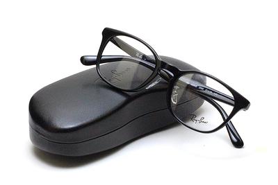 薄型レンズ付メガネセット Rayban レイバン 5386D-2000 ブラック【ユニセックス】【男女兼用】【アセテート】