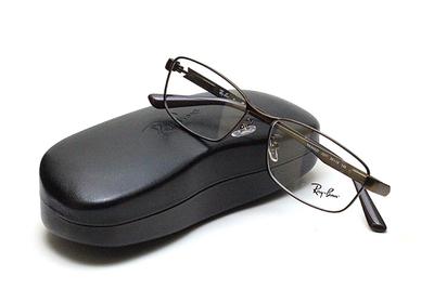 薄型レンズ付メガネセット Rayban レイバン 6452D-3077 マットブラウン【ユニセックス】【男女兼用】【メタル】
