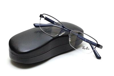 薄型レンズ付メガネセット Rayban レイバン 6453D-3076 マットネイビー【ユニセックス】【男女兼用】【メタル】