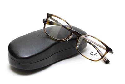 薄型レンズ付メガネセット Rayban レイバン 7182D-2012 ブラウン【ユニセックス】【男女兼用】【コンビ】