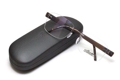 薄型レンズ付メガネセット Silhouette SIVISTA シビスタ 5553-6041 ブロンズ/ブラウン