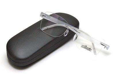 薄型レンズ付メガネセット Silhouette SIVISTA シビスタ 5553-7001 ロディウム/クリスタル