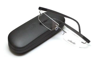 薄型レンズ付メガネセット Silhouette SIVISTA シビスタ 5553-6561 ルテニウム/グレー