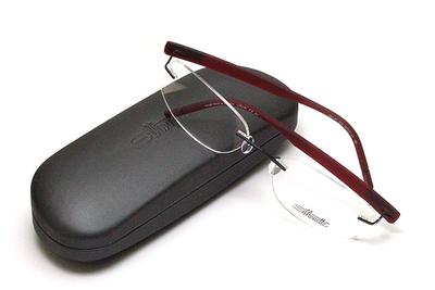 薄型レンズ付メガネセット Silhouette SIVISTA シビスタ 5553-9042 クリスタルレッド