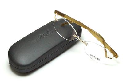 薄型レンズ付メガネセット Silhouette SIVISTA シビスタ 5553-7531 ゴールデンベージュ