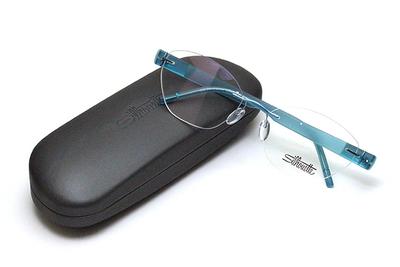 薄型レンズ付メガネセット Silhouette SIVISTA シビスタ 5553-5042 クールアクア