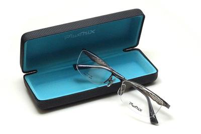 薄型レンズ付メガネセット PLUSMIX プラスミックス 13719-450 ガンメタ【メンズモデル】