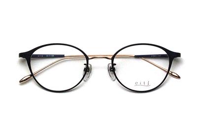 薄型レンズ付メガネセット Hamamoto H ハマモト エイチ H 1165-4 ネイビーマット/ピンクゴールド【レディース】【日本製】【メタル】