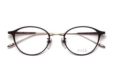 薄型レンズ付メガネセット Hamamoto H ハマモト エイチ H 1165-3 ボルドーマット/ゴールド【レディース】【日本製】【メタル】