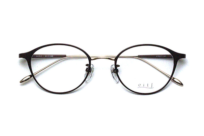 薄型レンズ付メガネセット Hamamoto H ハマモト エイチ H 1165-2 ブラウンマット/ゴールド【レディース】【日本製】【メタル】