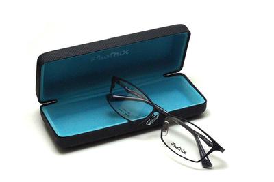 薄型レンズ付メガネセット PLUSMIX プラスミックス 13585-040 マットブラック【2020 夏モデル】【メンズモデル】