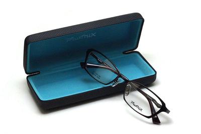 薄型レンズ付メガネセット PLUSMIX プラスミックス 13586-220 ダークブラウン【2020 夏モデル】【メンズモデル】