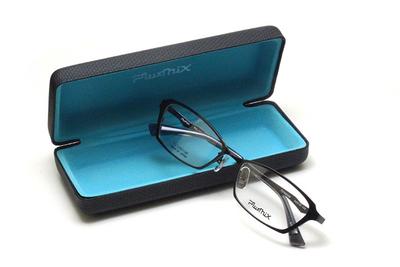 薄型レンズ付メガネセット PLUSMIX プラスミックス 13586-045 ブラック【2020 夏モデル】【メンズモデル】