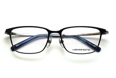 薄型レンズ付メガネセット Hamamoto ハマモト HT 333-4 ネイビー/ガンメタ【男女兼用】【日本製】【フルリム】