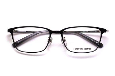 薄型レンズ付メガネセット Hamamoto ハマモト HT 333-2 ブラック/シルバー【男女兼用】【日本製】【フルリム】