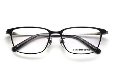 薄型レンズ付メガネセット Hamamoto ハマモト HT 333-3 グレーマット/シルバーマット【男女兼用】【日本製】【フルリム】