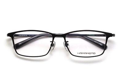 薄型レンズ付メガネセット Hamamoto ハマモト HT 334-3 ブラックマット/ネイビーマット【男女兼用】【日本製】【フルリム】
