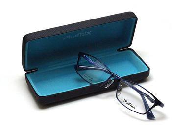 薄型レンズ付メガネセット PLUSMIX プラスミックス 13585-110 ネイビー【2020 夏モデル】【メンズモデル】