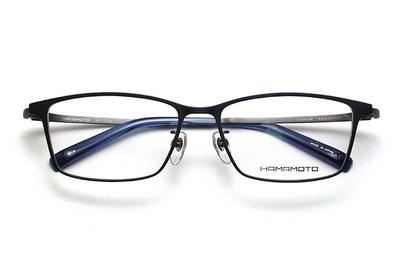 薄型レンズ付メガネセット Hamamoto ハマモト HT 334-4 ネイビーマット/ガンメタマット【男女兼用】【日本製】【フルリム】
