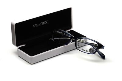 薄型レンズ付メガネセット PLUSMIX プラスミックス 13284-130 ネイビー【メンズモデル】