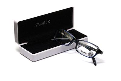 薄型レンズ付メガネセット PLUSMIX プラスミックス 13285-130 ネイビー/グリーン【メンズモデル】