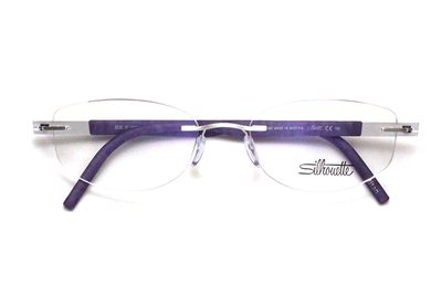 薄型レンズ付メガネセット  シルエット アイデンティティ 5535/IP-7100(ラベンダーフィールド)