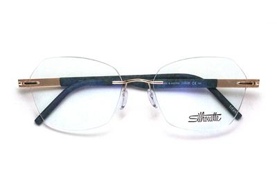薄型レンズ付メガネセット  シルエット アイデンティティ 5535/KQ-3520(ダークスプリングス)