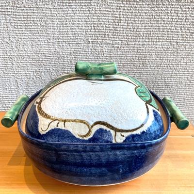 利行窯 かぶら角型手造り土鍋