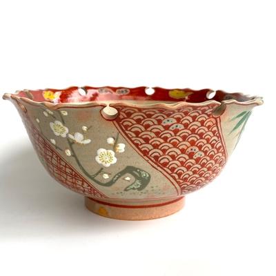 太仙作 赤絵菓子鉢