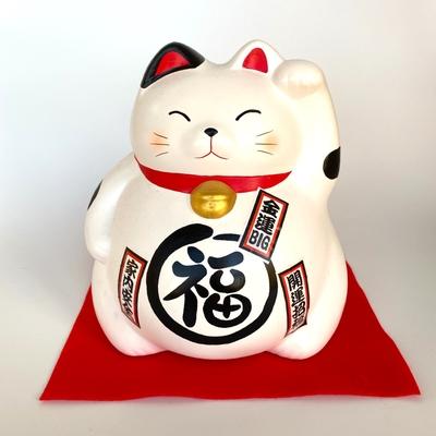 ジャンボ丸福猫貯金箱(各色)