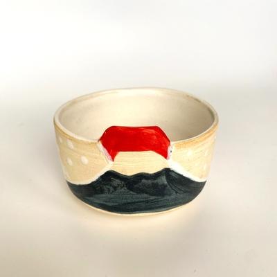 天水窯 日の出富士小鉢