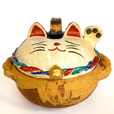 neuf 招き猫三色土鍋