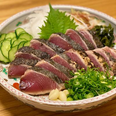 田中鮮魚厳選 久礼どれ初鰹の藁焼きタタキスペシャルセット(2~3人前)【冷蔵便】