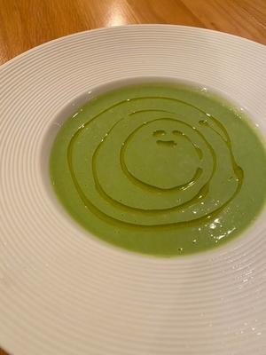 初夏の香り!!グリーンピースのスープ