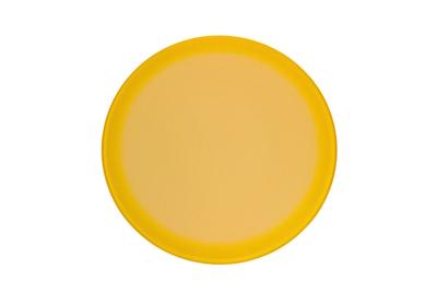 ガラス丸台 φ25㎝ グラデ 白レモン