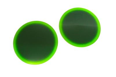 ガラス丸台 25㎝φ グラデ 青竹緑
