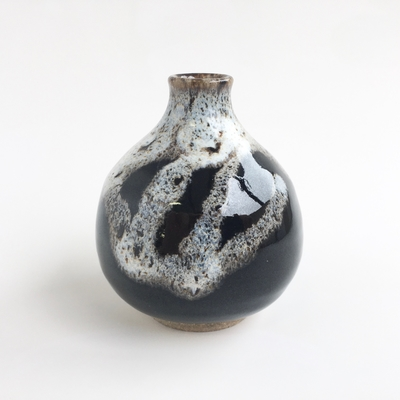 小瓶子 海鼠釉