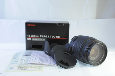 【A】元箱つきシグマ SIGMA 18-200mm F3.5-6.3 II DC OS HSM ニコン