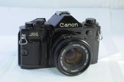 【B】キャノン CANON A-1 ボディ+ NFD 50mm F1.8
